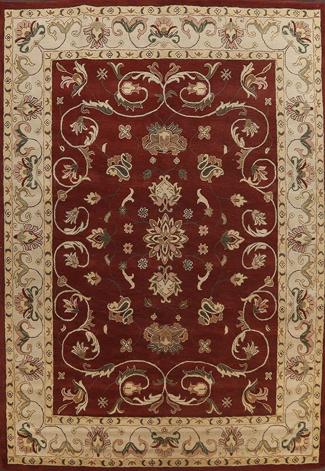 Floral Red Area Save money Branded goods Rug Wool Hand-Tufted x Carpet 10x13 0'' 13' 10'