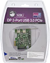 SIIG 2-Port Dual Profile PCIe Adapter with SuperSpeed USB 3.0 (JU-P20612-S1)