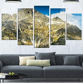 Designart Rocky Summit in Tatra Mountains - Contemporary Landscape Glossy Metal Wall Art, 32'' Hx60'' Wx1'' D 5PD