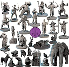 Dungeons and dragons D/&D tabletop miniatures DnD miniatures Old Male Wizard Get FREE Wooden RPG engraved BOX