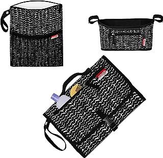 Skidaddle by Skip HOP Kit de 3 piezas para llevar en el carriola – Organizador de carriola, bolsa mojada y seca y cambiador de estación (diseño de vid negra)