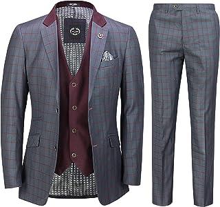 "Xposed Men's Suit Grey Grey 46"" 36"""