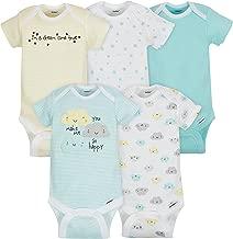 Gerber Baby 5 Pack Onesies, Cloud, 0-3