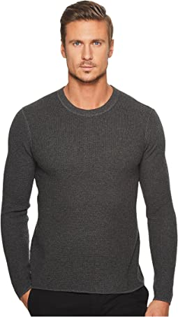 Original Penguin - Long Sleeve Waffle Stitch Crew Sweater