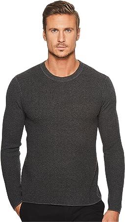 Long Sleeve Waffle Stitch Crew Sweater