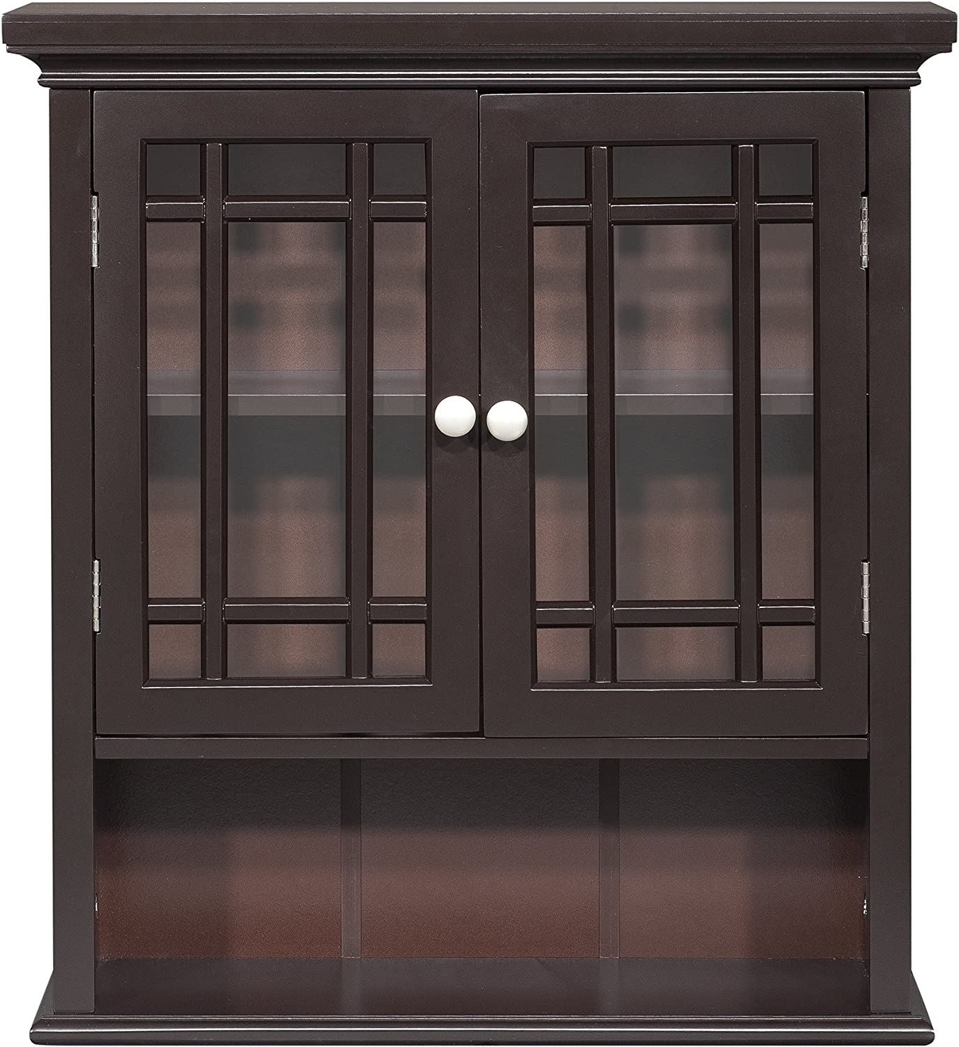 Elegant Home Fashions Neal Wall Cabinet with 2-Door and Shelf