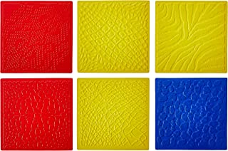 ROYLCO R5817 7 by 7-Inch Animal Skins Rubbing Plates, 6-Pack