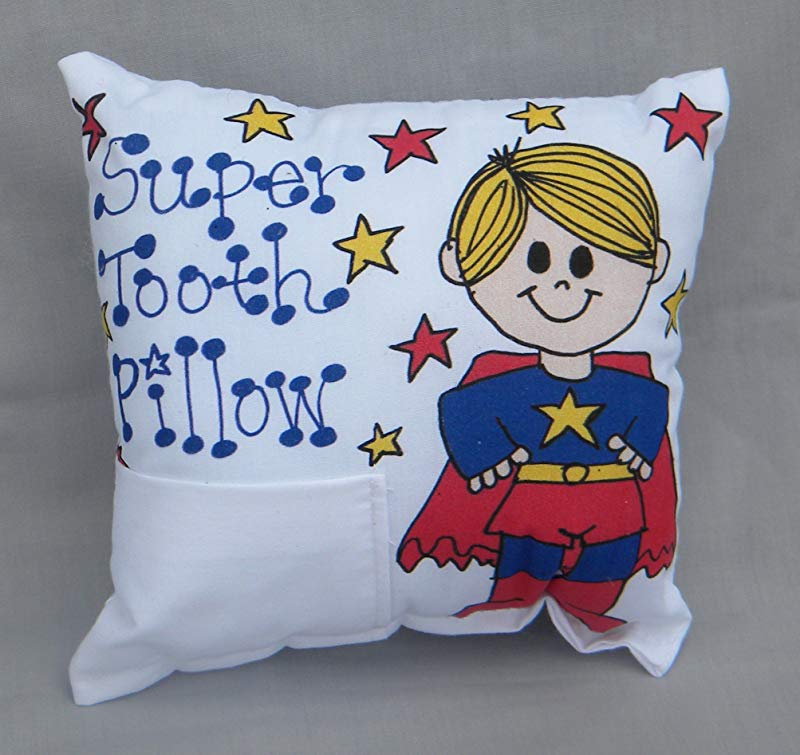 Boy Superhero Tooth Fairy Pillow With Tooth Fairy Dust
