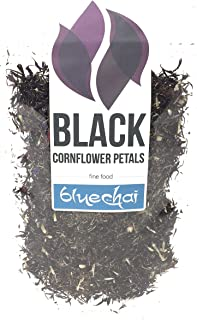 Black Cornflower Petals - 100% Organic, dried - Natural Organically Grown Herbal Flowers for For Homemade Lattes, Tea Blends, Bath Salts, Gifts, Crafts. (Centaurea Cianus)