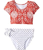 O'Neill Kids - Fiona Sleeved Crop Top Set (Toddler/Little Kids)