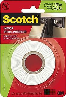 3M Indoor Scotch-Mount dubbelzijdige montagetape en -strips: 1 in. x 55 in. (Wit)