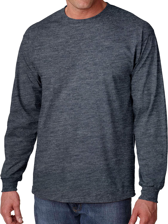 Gildan Big Men's Cotton Long Sleeve T-Shirt