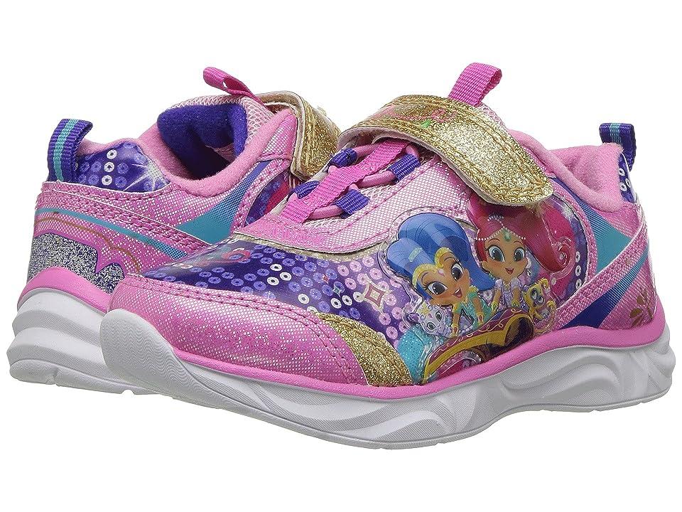 Josmo Kids Shimmer Shine Lighted Sneaker (Toddler/Little Kid) (Pink Multi) Girl