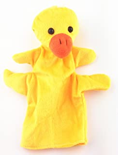 RayLineDo Big Size Duck Sock Glove Soft Cute Hand Finger Puppets Sack Plush Toy Kids Entertainment