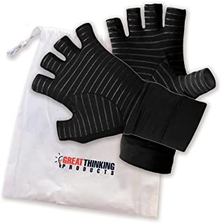 Copper Compression Arthritis Gloves – Ideal for Carpel Tunnel, Computer Typing, Tendonitis And Everyday Activities – Comfo...