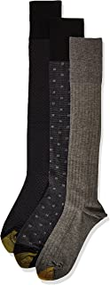 Gold Toe mens Over the Calf Dress Socks, 3 Pairs Dress Sock - multi - Shoe Size: 6-12.5
