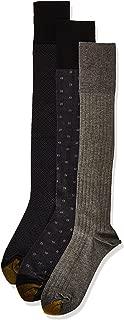 Gold Toe mens Over the Calf Dress Socks, 3 Pairs Dress Sock - multi - Shoe Size: 6-12.5