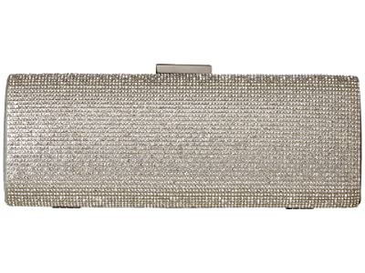 Jessica McClintock Jacqueline East/West Clutch (Silver) Clutch Handbags