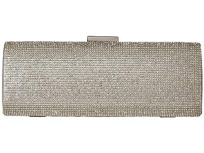 Jessica McClintock Jacqueline East/West Clutch (Silver) Clutch Handbags
