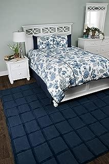 Rizzy Home Fresh Air Navy 3-Piece Comforter Set, Queen
