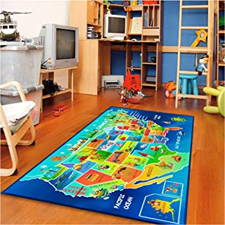 childrens map rug