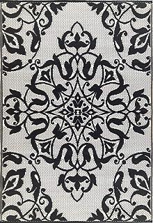 Mad Mats New Wrought Iron Indoor/Outdoor Floor Mat (5' X 8', Black/White)