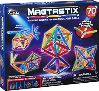 Cra Z Art Magtastix 70 Piece Balls and Rods Building and Stacking Toys