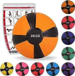 POWRX Balón Medicinal 1-10 kg + PDF Workout