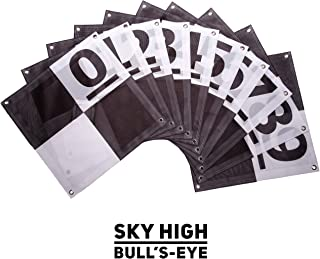 UAV Ground Control Points (GCPs)/Aerial Targets for Aerial Mapping & Surveying (10 Pack) with Center Passthrough Numbered 0-9 (Black & White)