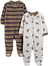 Simple Joys by Carter's Baby Boys' 2-Pack Fleece Footed Sleep and Play