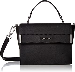 Calvin Klein Raelynn Saffiano Top Handle Flap Crossbody