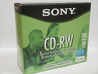 Sony CD-RW Rewritable Discs 700MB 80 minutes Multispeed (5 Pack)