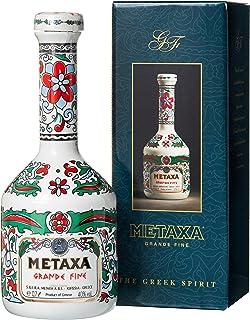 Metaxa Grande Fine Brandy Griechischer Weinbrand in weiss-bunter Karaffe 1 x 0.7 l
