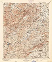YellowMaps Pisgah NC topo map, 1:125000 Scale, 30 X 30 Minute, Historical, 1906, Updated 1934, 19.6 x 16.4 in