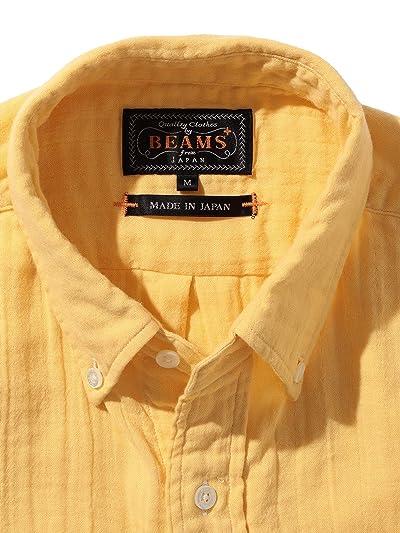 Gauze Buttondown Shirt 11-11-6303-139: Yellow