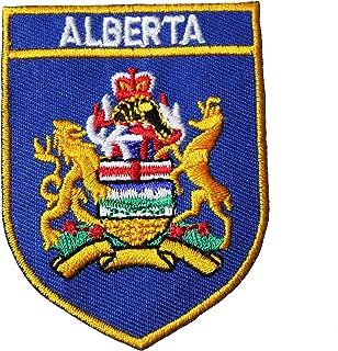 ALBERTA Blue Shield With Gold Trim Canada Provincial Flag 2 1/8