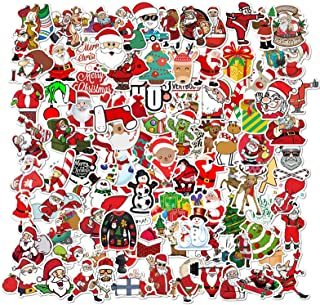 100PCS Christmas Graffiti Stickers Pack, Cartoon Stickers, Christmas Stickers, Waterproof Decals Vinyls for Phone, Laptop,...