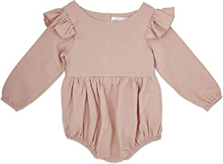 Flutter Sleeve Fall Baby Romper   Baby Girl Romper for Newborns, Infants, and Toddlers   Spring Photoshoot Outfit