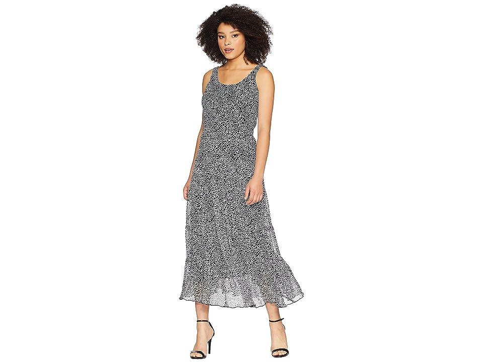 Nine West Multi Tier Maxi Dress (Black/White) Women