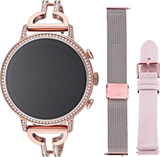 Fossil Women's Touch-Screen Watch with Stainless-Steel Strap, Rose Gold, 18 (Model: FTW6030SET)