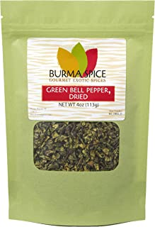 Green Bell Pepper Flakes, Dried | Natural Seasoning | Idea for Rice, Meat, Salads, Stews and Brochettes 4 oz.