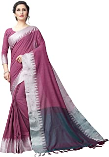 3e161bc9a0a765 Perfectblue Women's Linen Saree With Blouse Piece (Vanshi9kaLineVariation)