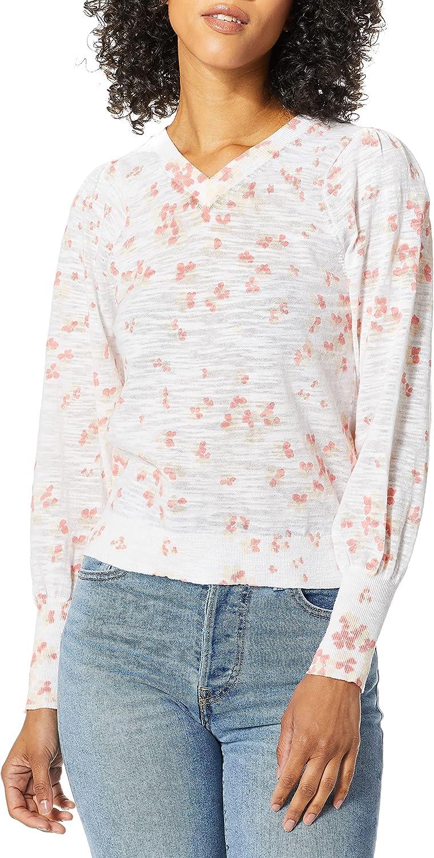 Rebecca Taylor Women's Printed V-Neck Pullover
