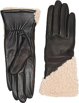 UGG - Asymmetrical Smart Curly Sheepskin Gloves
