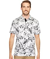 BUGATCHI - Short Sleeve Digital Prints Three-Button Shirt