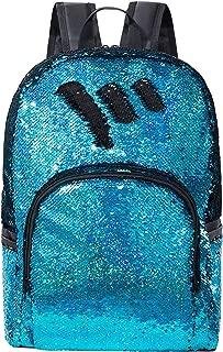 Fashion Sequin Backpack Magic Student Book Bag Daypack SparkleBlue/Black