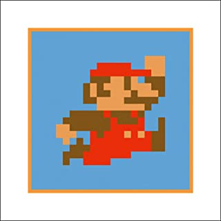 Plaid Design Classic 8-Bit Super Mario Bros Fine Art Print - 16x16 - Signed/Numbered Limited Edition Pop Art Giclée - Artwork by John Lathrop