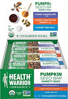 Sponsored Ad - Health Warrior Organic Pumpkin Seed Protein Bars, Variety Pack, 8g Plant Protein, Gluten Free, Certified Or...
