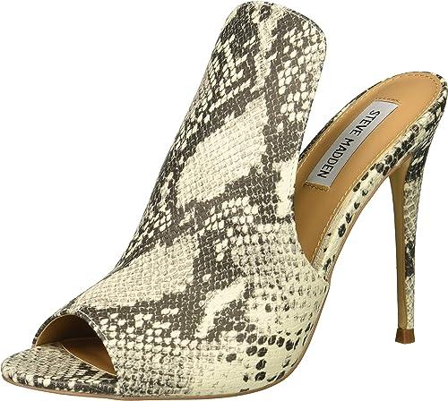 Steve Steve Madden Wohommes Sinful Heeled Sandal, Natural Snake, 6 M US  pas de minimum