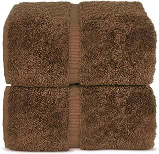 Indulge Linen Bath Sheets, 100% Turkish Cotton (Chocolate, Standard (35x70 inches) - Set of 2)